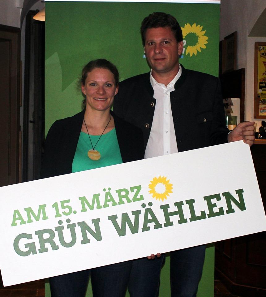 Aufstellungsversammlung Kommunalwahl 2020 Isen Grüne Lena Geiger Gemeinderätin und Florian Geiger Bürgermeister-Kandidat