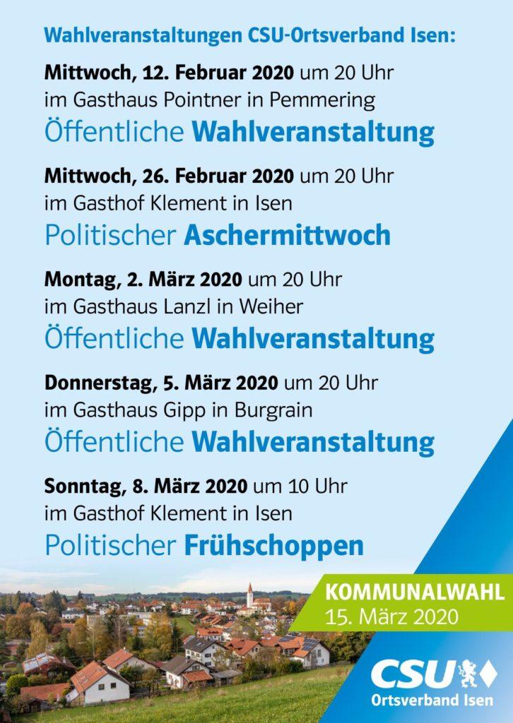 CSU-Wahlkampf-Veranstaltungen Isen
