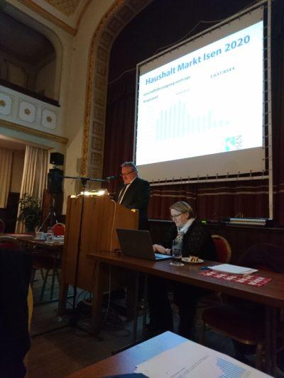 Bürgerversammlung Isen - Rückblick und Ausblick, viele Investitionen geplant