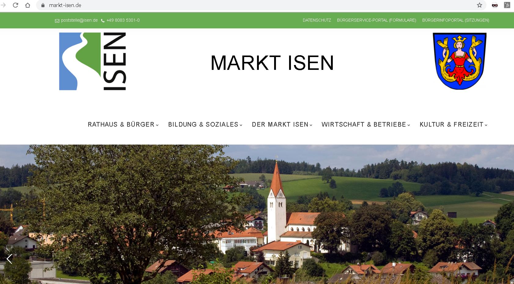 www.Markt-Isen.de ist erreichbar