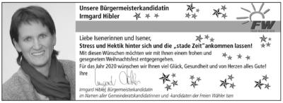 Weihnachtsgruß Irmgard Hibler