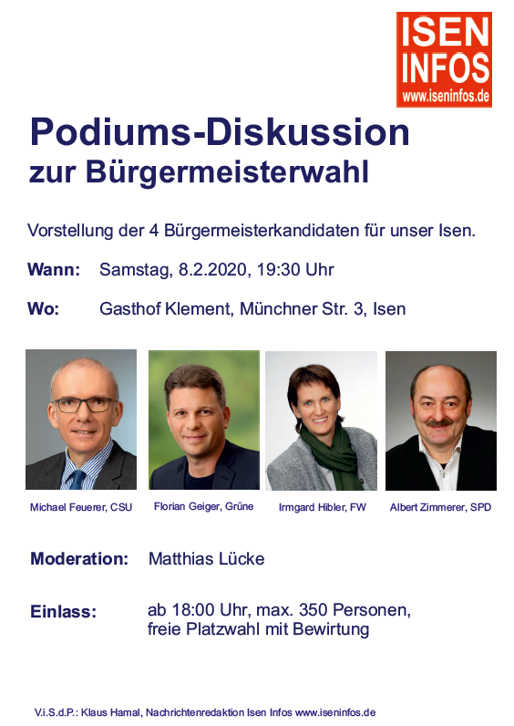 Podiumsdiskussion Bürgermeisterwahl Isen