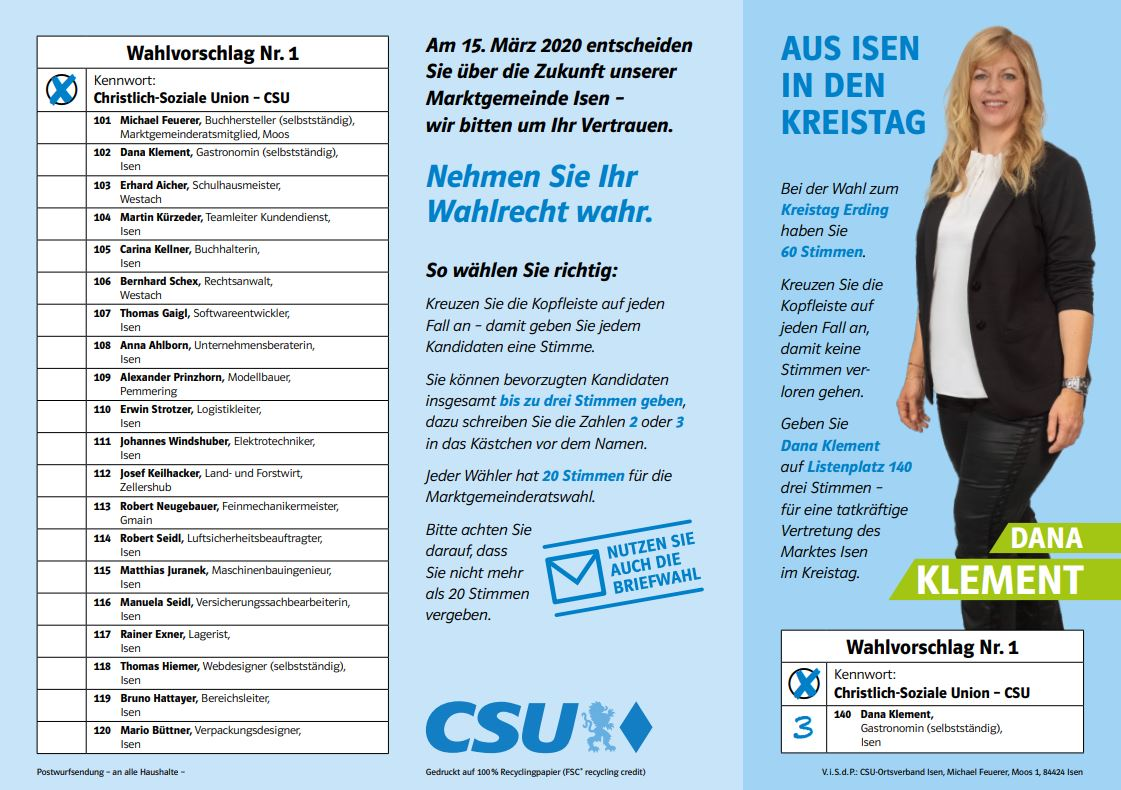 CSU-Flyer-Isen-Kandidaten-Liste