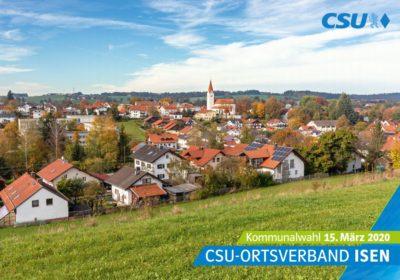 Wahlprogramm der CSU Isen zur Kommunalwahl am 15. März 2020