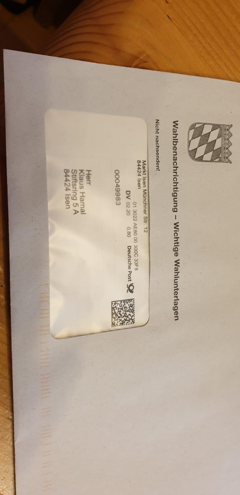 Einladungsbrief-Wahl