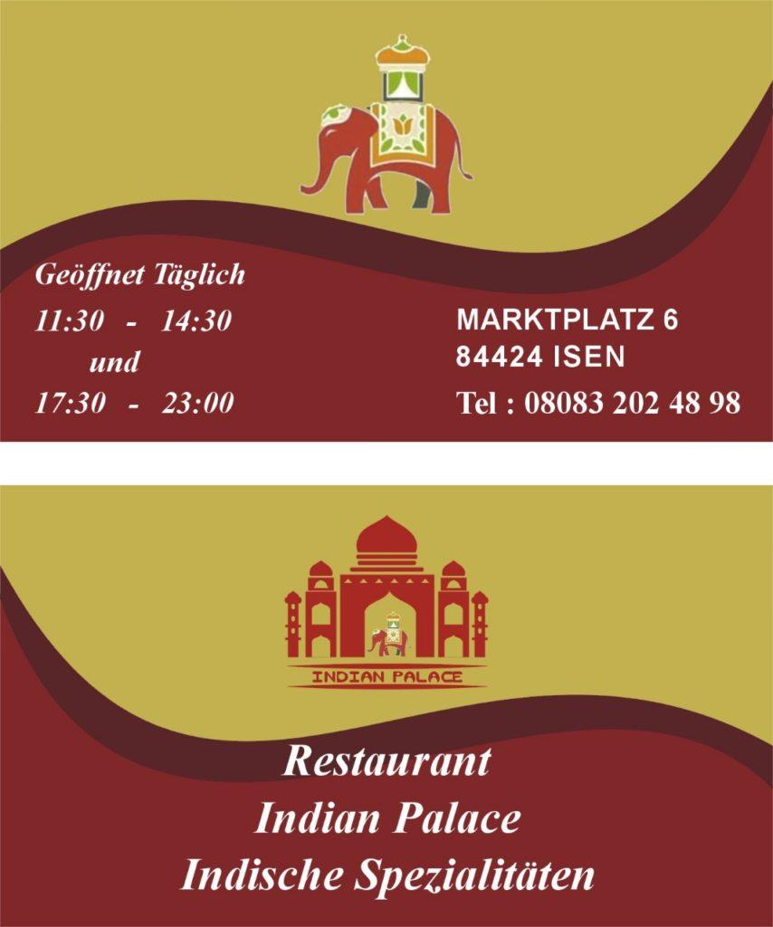 Indian-Palace Öffnungszeiten Isen indisches Restaurant