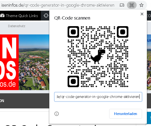 QR-Code Generator in Google Chrome aktivieren
