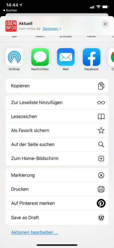 Safari-Problem-App-Homebildschirm