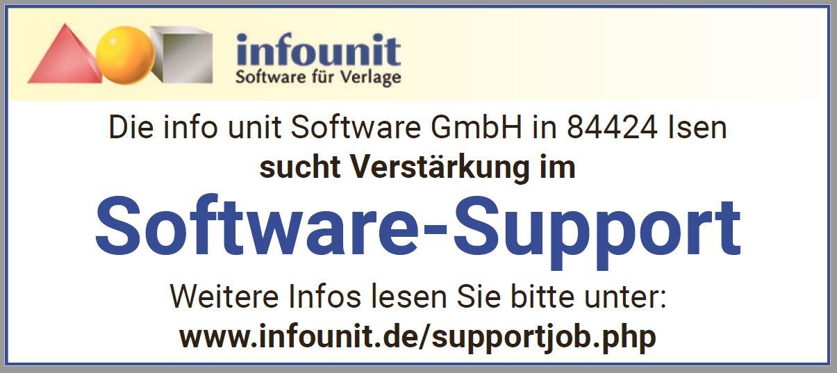 Verstärkung im Software-Support gesucht